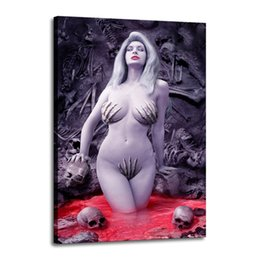 China Cartoon Art Lady Death In The Fire,Oil Painting Reproduction High Quality Giclee Print on Canvas Modern Home Art Decor 2513 suppliers