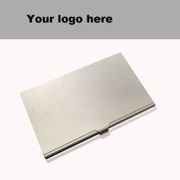 06a64cd7aa1cd5 Titolare della carta in lega Custodia sottile Custodia business Casella ID  Carta ID aziendale Porta carte di credito