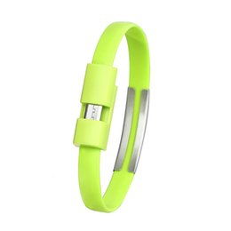 Micro usb cable coil online shopping - Green Wristband Micro Usb Cable Charger Charging Data Sync For Android Cell Mobile Phone Cables Cord Y10