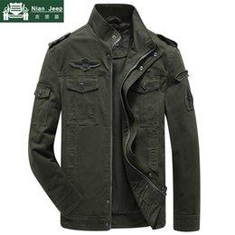 $enCountryForm.capitalKeyWord Australia - Plus Size Jacket Men Spring Autumn Cotton Army Solid Mens Jackets and Coats Fashion Armband Bomber Jacket Male M-6XL