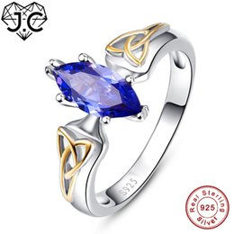 $enCountryForm.capitalKeyWord Australia - J.C High Quantity Ruby Spinel & Tanzanite Marquise Cut Real 925 Sterling Silver Ring Size 6 7 8 9 Exalted Women Fine Jewelry
