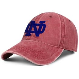Fighting Australia - Notre Dame Fighting Irish red Men and women Denim hat wash baseball caps styles fitted summer Messy Dad hat