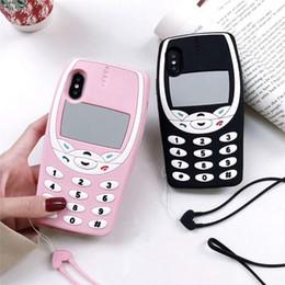 $enCountryForm.capitalKeyWord Australia - 3D Cute Retro Mobile Phone Soft Silicon Back Cover For iPhone 6 6s Plus X XR Xs Max 7 8 Plus Phone Cases Fundas Coque Capa