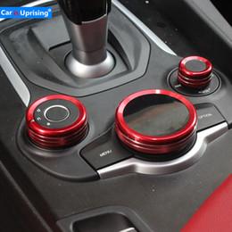 Alfa Romeo Accessories Australia - Car Stickers Car Interior Gear Multimedia Knob Decoration Ring Cover Car-styling For Alfa Romeo Giulia Stelvio 2017 accessories