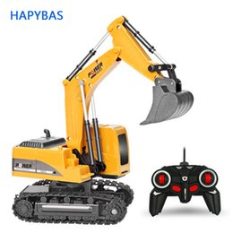 toys originals Canada - 2.4Ghz 6 Channel 1:24 RC Excavator toy RC Engineering Car Alloy and plastic Excavator RTR For kids Christmas gift 7339044