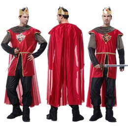 warrior costume men Australia - Adult King Costume Christmas Carnival Halloween Masquerade Rome Man Fancy Dress Medieval Warrior Prince Cosplay Clothes