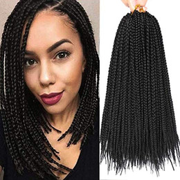 $enCountryForm.capitalKeyWord Australia - Box Braid Crochet Hair 18 inches Crochet Box Braiding Hair Extensions Kanekalon Synthetic Box Braids Hair For Black Women
