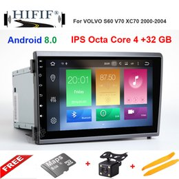 Volvo Dvd Australia - Octa Core 4G+32G Android 8.0 Car DVD Player Head Unit For VOLVO S60 V70 XC70 2000-2004 Auto GPS Navigation Radio IPS Screen