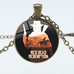 $enCountryForm.capitalKeyWord Australia - 2019 Creative New Letter Red Dead Redemption Pattern Pendant Necklace 3 Color Alloy Pendant Long Sweater Chain Necklace Wholesale