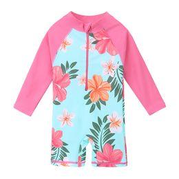 Long Suits For Girls UK - UPF50+ Print Children Swimwear Long Sleeve Baby Girl Swimsuit One Piece Toddler Infant Bathing Suit for Girls Boy Kids