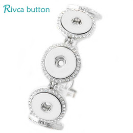 Antique AgAte beAds online shopping - P00773 Newest Snap Button Bracelet amp Bangles Antique Silver Plated Charm Bracelets Fit DIY18mm Rivca Snap Buttons Jewelry