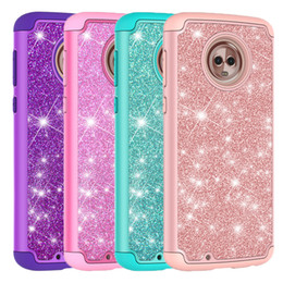 Chinese  For MOTO G6 Case Luxury Bling Glitter Hybrid Soft Silicone Hard PC Back Cover For MOTO G7 Play manufacturers