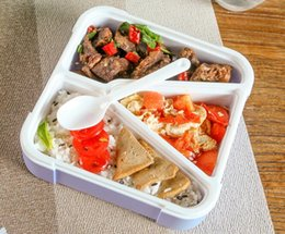 $enCountryForm.capitalKeyWord Australia - Japanese style food box with sealed lid student's lunch box buckle crisper,bento box