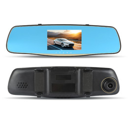 "camera rearview mirror full hd NZ - 5.0"" LCD Display Car Rearview Mirror Car DVR Full HD 1080P Front Rear Camera Dual Recording Driving Recorder dual dash cam"