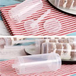 $enCountryForm.capitalKeyWord Australia - Plastic Food Grade Push Up Cake Mould Rainbow Ice Cream Pusher Cake Pop Cake Container for Party Decorations Round Shape Tool DIY Baking