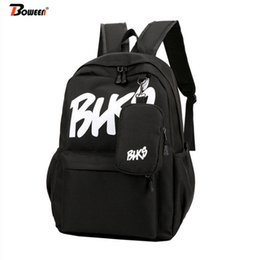school bags for college students 2019 - Nylon School Backpack Women Student School Bags for Girl Teenager Boys College Harajuku Leisure Schoolbag Letter Book Ba