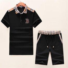 Polo Sportswear Australia - 2019 new luxury men's sportswear T-shirt POLO+ sport pantsuit short sleeve M-3XL #8032