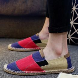 $enCountryForm.capitalKeyWord Australia - 2018 Summer Men Espadrilles Linen Loafers Shoes Korea Flat driving boat Shoes Male Black Canvas Fisherman LF-31