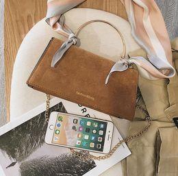 0b845e40346e Latest style top Coloured Silk Scarf Small Women 2019 New Fashion Simple  Baitie Single Shoulder Bag Skew Bag