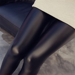 $enCountryForm.capitalKeyWord Australia - Women New Black Faux Leather Leggings Sexy Women Leggins Thin Black Leggings Skinny Pant drop shipping