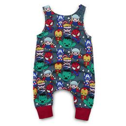 Cartoon Tutus Australia - Baby romper baby girls boys romper suits kids ins cartoon printing sleeveless summer clothes jumpsuit kids designer clothes 0-12M DHL FJ93