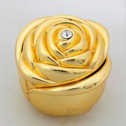 Jewellery storage boxes online shopping - rose flower design jewelry box Travel Portable Jewellery Box Organizer Jewel Storage Case color KKA6465