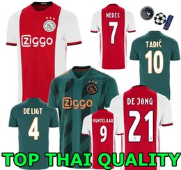 Wholesale Top quality Ajax Home soccer Jersey Adult Man ZIYEC DE LIGT HUNTELAAR TADIC DOLBERG DE JONG Ajax away football shirt KID KIT