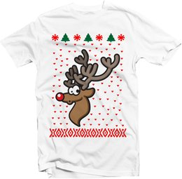 $enCountryForm.capitalKeyWord NZ - Rudolf Merry Christmas t shirt red nose xmas funny top present holiday top size discout hot new tshirt top free shipping t-shirt