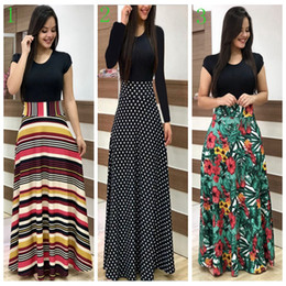 Bohemian style clothes for women online shopping - Bohemia floral patchwork dress printed short long sleeve women dresses lady clothing for different styles