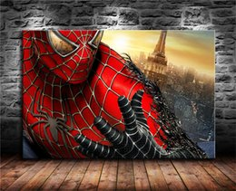 spiderman painting Australia - Spiderman,1 Pieces Canvas Prints Wall Art Oil Painting Home Decor (Unframed Framed) 24X36.