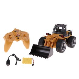 Discount electric remote control airplanes - wholesale 1:18 Scale Toy Remote Control RC Construction Truck for Boys Girls