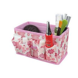 Fold Up Cosmetic Bag Australia - Folding Non-woven Make Up Cosmetic Storage Box Organizer Jewelry Container Bag