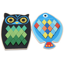 $enCountryForm.capitalKeyWord UK - Cartoon Animal Wooden Toys Flat Shape Puzzle Games Toys For Children Creative Early Learning Education Wooden Puzzles