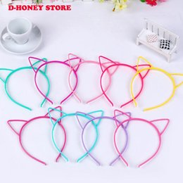 $enCountryForm.capitalKeyWord Australia - Party Supplie Cartoon Cat Ear Hairband Headband For Women Butterfly Bow Hair Band Plastic Kids Hair Accessories