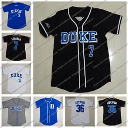 Maillot de Baseball Personnalisé N'importe quel Nom Nombre Blue Devils # 7 Marcus Stroman 23 Michael Seander 1 Ethan Murray 38 Michael Rothenberg S-4XL en Solde