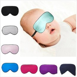 blindfolds toys NZ - Baby Silk Rest Sleep Eye Mask Padded Shade Cover Travel Relax Blindfolds Eye Cover Sleeping Mask Eye Care Beauty Tools Party Mask LT1594