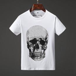 Skull print t Shirt online shopping - 19SS Mens Designer T Shirts Multiple Skull Fashion Printing Anti Shrink Quick Dry Mens Luxury Designer Clothing