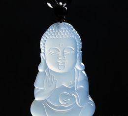 $enCountryForm.capitalKeyWord Australia - New carved jade pendant natural jade necklace female models white jade marrow Maitreya Buddha pendant sweater chain