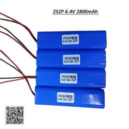 Lifepo4 Li Ion Battery UK - 4PCS Lot 2000 Times Cycle Life 6.4V 2800mAh Li-Ion LiFePo4 Rechargeable Lithium Battery Pack for Lights