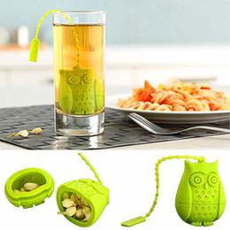 Food grade silicone owl shaped tea infuser Creative amimal tea strainer Multi color repeat tea accessories