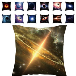 Wholesale black patterned cushion for sale - Group buy Cosmic Black Hole Series Cushion Cover Mysterious Explosion Peach Skin Cushion Cover Black Hole Pattern Print Pillowcase Sofa Home Decor
