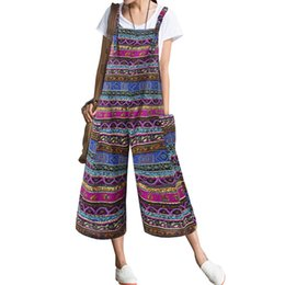 $enCountryForm.capitalKeyWord Australia - rompers womens jumpsuit Women's Pockets Print Cotton And Linen Sleeveless Loose Long Rompers Jumpsuit body mujer #30