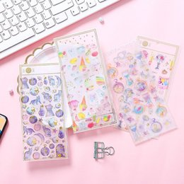 $enCountryForm.capitalKeyWord Australia - Cartoon Crystal Sticker Kids Stickers DIY Arm Phone Diary Decoration Korean 3D Hot Stamping Sticker HHA715