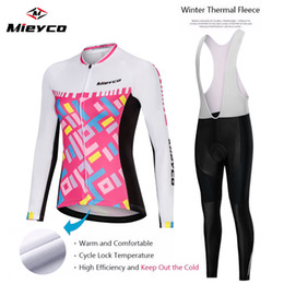 team women cycling Australia - Women pro team cycling clothing winter cycling jersey thermal fleece long sleeve mountain bike jersey bicycle clothing