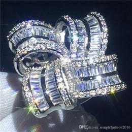 $enCountryForm.capitalKeyWord NZ - Handmade Big Flower Jewelry 925 Sterling silver ring Diamond Party wedding band rings for women Gift