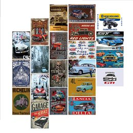 vintage car signs Canada - Bus Motorcycle Car Metal License Plate Vintage Home Decor Tin Sign Bar Pub Garage Decorative Metal Sign Metal Painting Plaque