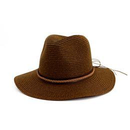 becc8e947562c Summer Fashion Joker Straw Hat Sun Hat Solid Color Casual Beach For Women  0315