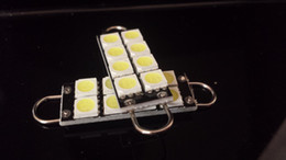 Rigid loop light bulb online shopping - 44mm Xenon White SMD led Rigid Loop Festoon LED Bulbs For Door Trunk Lights