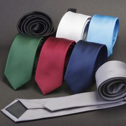 Solid Navy Blue Ties NZ - GUSLESON Men Solid Navy Blue Classic Ties for Bridegroom Green Color 6cm Slim Neck Ties for Wedding Tie Skinny Groom Tie for Men D19011003