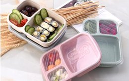 Wholesale Food Grade Wheat Straw Portable Bento Box Lunch Box Portable Fruit and Other Snacks Storage Boxes Outdoor Camping Convenient Box